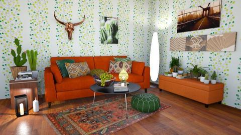 boho maroon - Modern - Living room - by rimanina