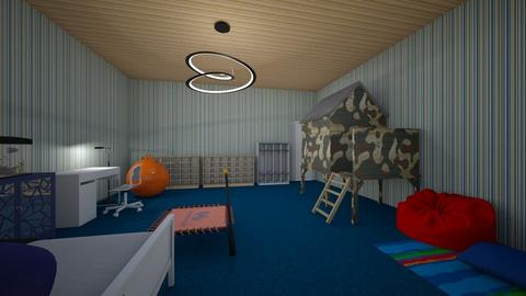 Cool Room for my brother - Retro - Kids room - by Ember Fox