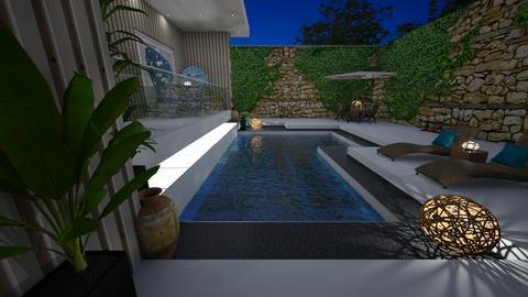 Pool 15 night - Garden  - by nanabpf