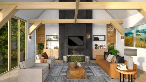 sala cimento - Living room  - by soralobo