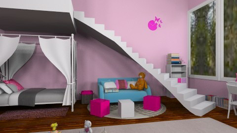 Pink kids room - Kids room  - by Rose Marie