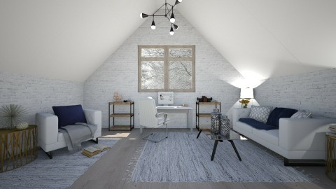 Attic Office - Office  - by serenellc27