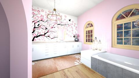 cherry blossom bathroom - Bathroom  - by ItsKalaniOfficial