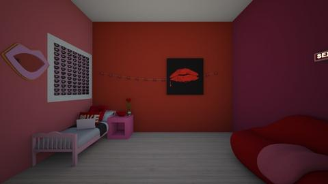 teen valentines bed room - Bedroom  - by crying_room