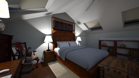 Attic Bedroom Design - Bedroom  - by SammyJPili