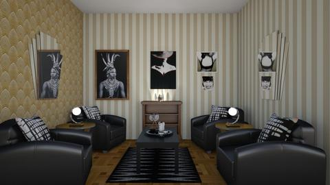 Art Deco Living - Living room  - by Tupiniquim