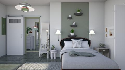 Relaxing sage - Modern - Bedroom  - by augustmoon