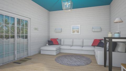 beach house - Living room - by Gennevieve Moya