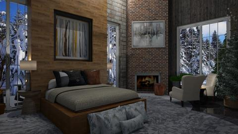 Mountain Winter - Country - Bedroom  - by Sue Bonstra