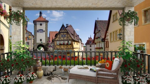 Rothenburg View - Garden  - by lydiaenderlebell