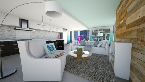City Apartment - Modern - Living room  - by bgref