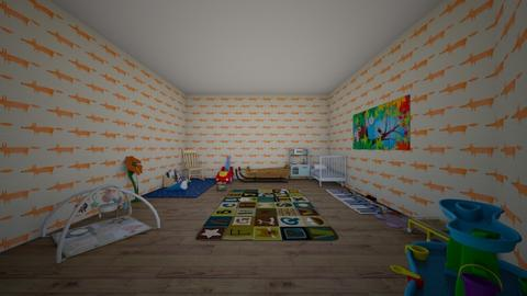 baby fox - Kids room - by deleted_1588208394_black cat