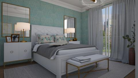 Turquoise and brass - Bedroom - by Tuija