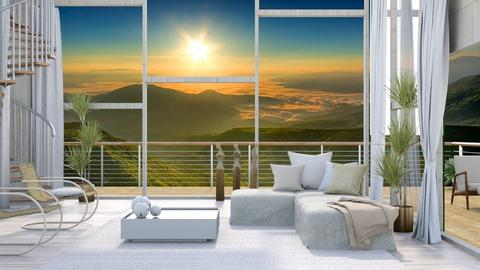 View_1_Mountains - Living room - by ArtHousedeco