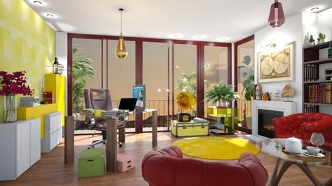 Roof top office in yellow - Modern - Office  - by MonicaMV