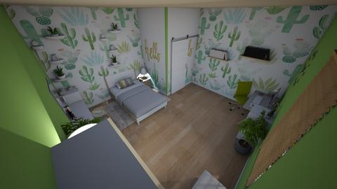 family home 176 - Retro - Bedroom  - by Stavroula Chatzina