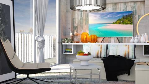 M_ Pastel drip - Living room  - by milyca8