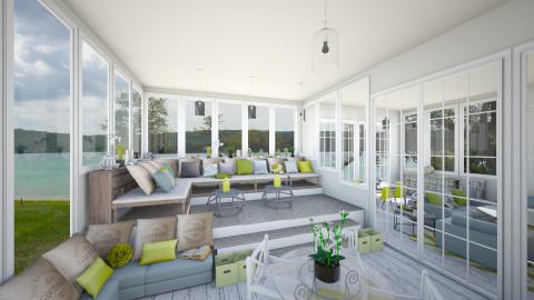 sunroom - Rustic - Living room - by Ali Ruth