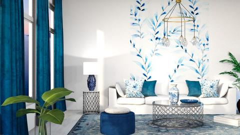 blue  - Living room  - by Sirtzuu93
