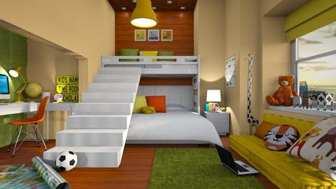 bunk bed room - by Senia N
