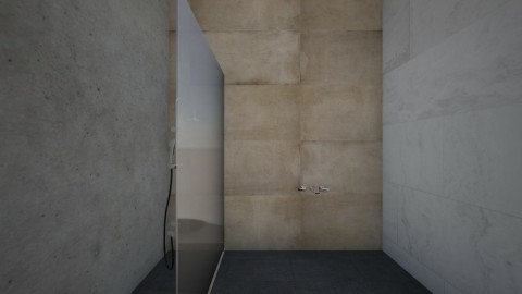 Bathroom concrete - Minimal - Bathroom  - by Moonlight01