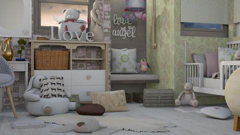 Girl Time - Feminine - Kids room  - by Gurns