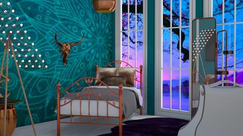 TurquoiseCopper - Modern - Bedroom - by bleeding star