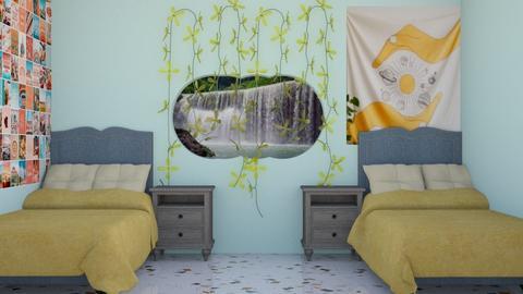 room by the waterfalls - Bedroom  - by MillieBB_fan