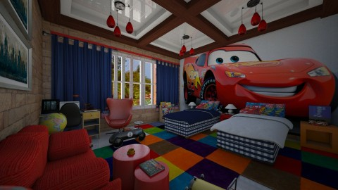 Quarto de carro - Kids room  - by Maria Helena_215