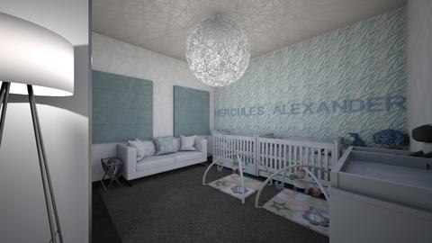baby boys room - Kids room  - by DAGNH