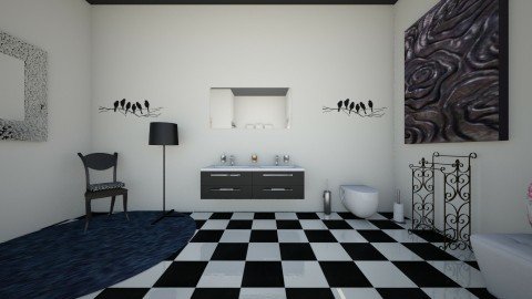 the modern vintage side 1 - Vintage - Bathroom  - by theaphrodite