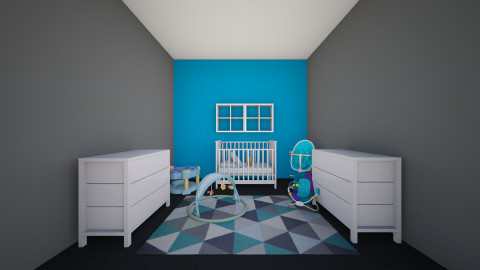 baby boy room - by bossashady