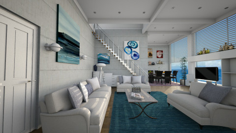 M_Calm at sea - Modern - Living room  - by milyca8