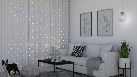 White - Living room  - by ElenaSpr