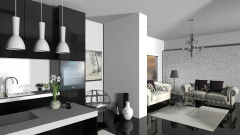 Black and white - Modern - Living room - by Cejovic Andrijana