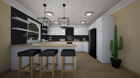 B n B Kitchen - Kitchen  - by Andrew Achkar Interiors