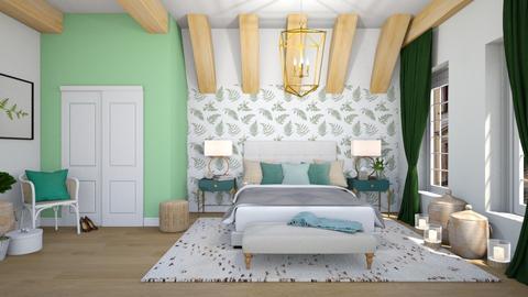 Sage bedroom - Modern - Bedroom  - by martinabb
