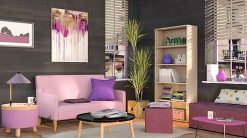 Pink and Purple Living - Eclectic - Living room  - by Sally Simpson