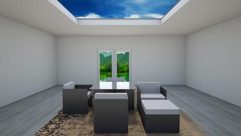 Plain Skylight Dining - Minimal - Dining room - by Helen Abram