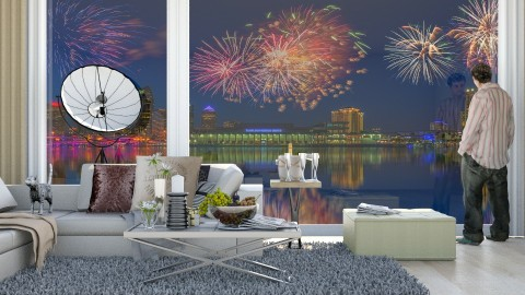 new years eve - Modern - Living room  - by Evangeline_The_Unicorn