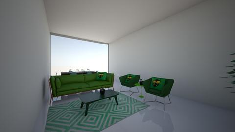 Green living room - by cagla_deniz_