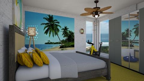 Summer Beach Bedroom - Bedroom  - by Tupiniquim