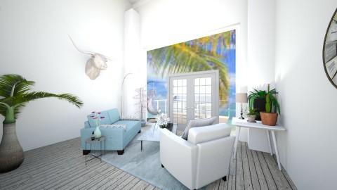 Calming beach view - Modern - Living room - by Kaitlyn Z