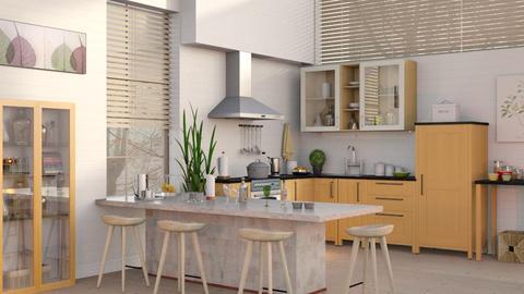 Kitchen with Bar 2 - Kitchen  - by Sally Simpson