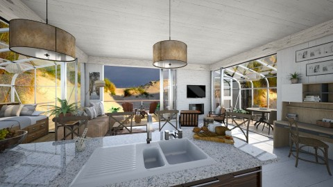 in the Dunes - Modern - Kitchen  - by Lackew