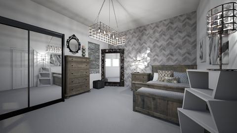 shabby wood and black - Bedroom  - by ange06