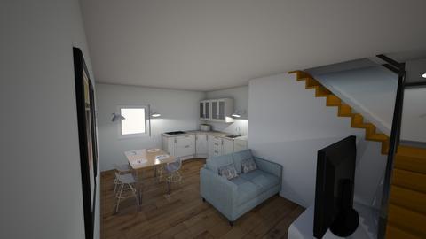Barn Design Downstairs - Kitchen - by Ellzbee