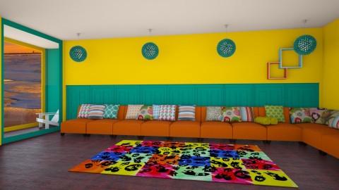 Living room - Retro - Living room  - by Uroosa Bint E Haroon