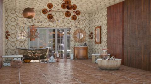 Copper Bathroom  - Modern - Bathroom  - by InteriorDesigner111