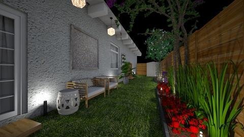 narrow side yard - Modern - Garden  - by kat1016